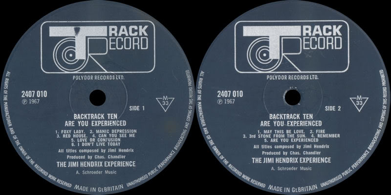 Discographie : Rééditions & Compilations AreYouExperienced-Backtrack10Label