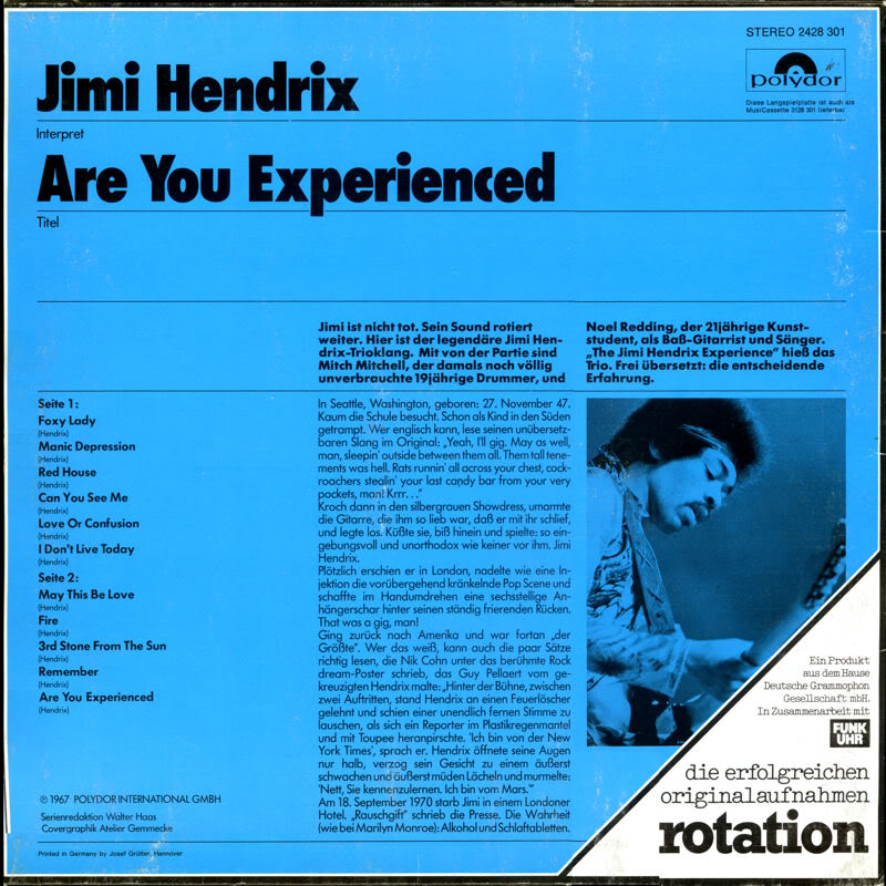 Discographie : Rééditions & Compilations - Page 5 AreYouExperienced-Polydor2428301RotationBack