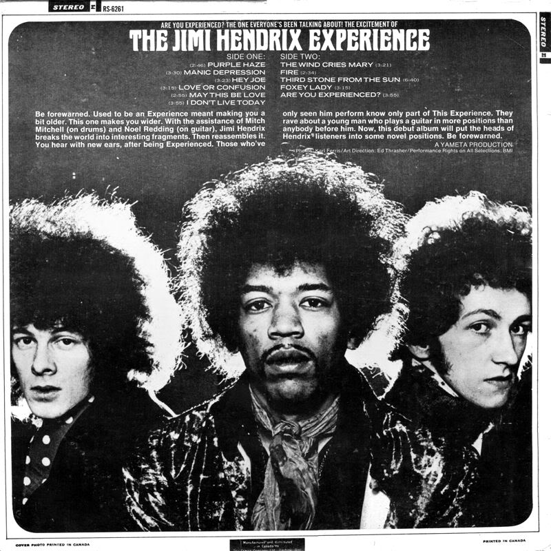 Are You Experienced (1967) AreYouExperiencedCanadaBack