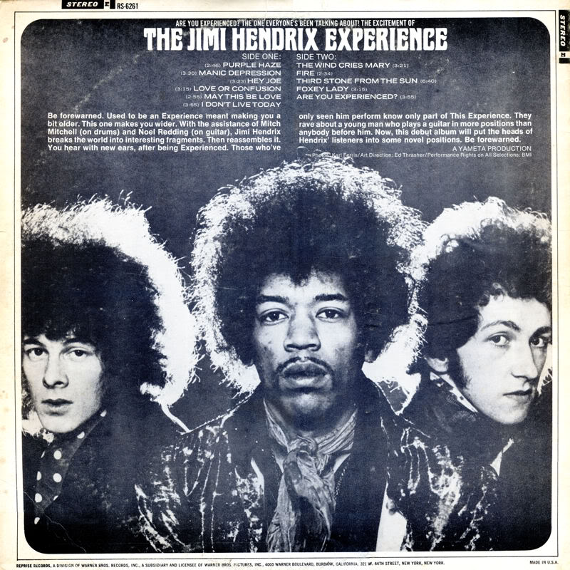 Are You Experienced (1967) AreYouExperiencedRS6261USABack