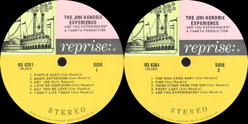 Are You Experienced (1967) AreYouExperiencedRS6261USALabel