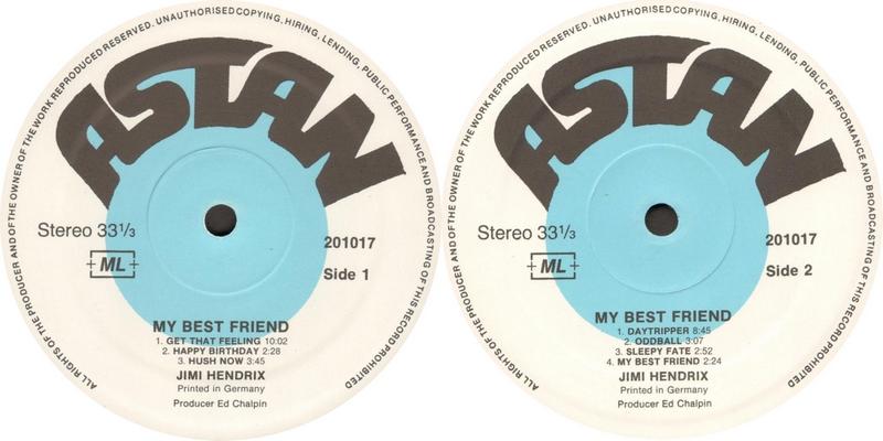 Discographie : Enregistrements pré-Experience & Ed Chalpin  - Page 9 Astan201017MyBestFriendLabel