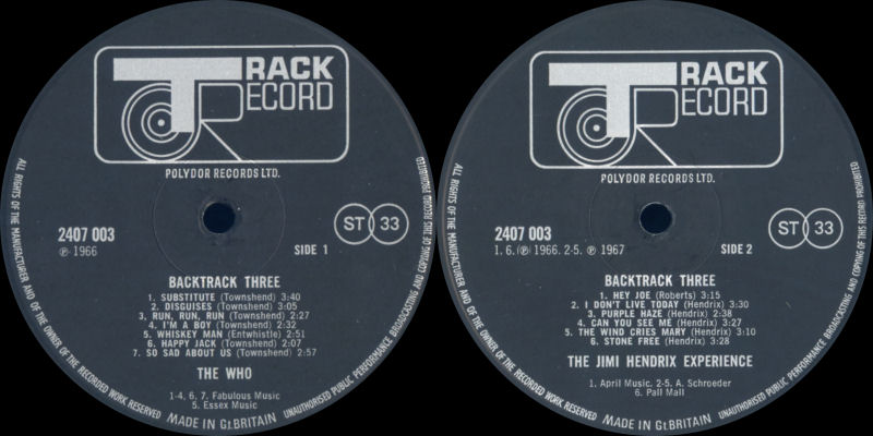 Discographie : Rééditions & Compilations Backtrack3Label_zpsaa32ff87