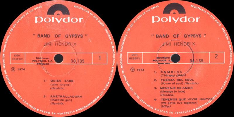 Discographie : Rééditions & Compilations - Page 5 BandOfGypsys-Polydor30135VenezuelaLabel