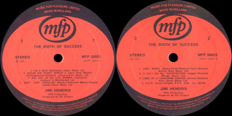 Discographie : Enregistrements pré-Experience & Ed Chalpin  - Page 3 BirthOfSuccessLabel