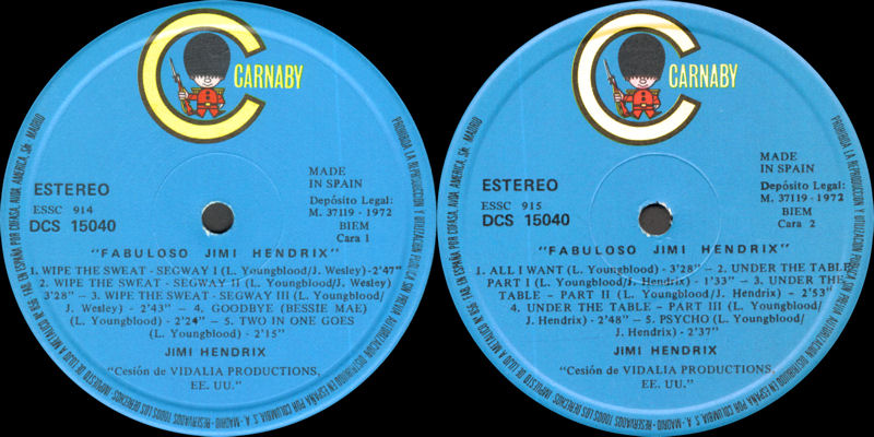 Discographie : Enregistrements pré-Experience & Ed Chalpin  - Page 8 Carnaby-DCS15040-41- FabulosoJimiHendrix1972Label1