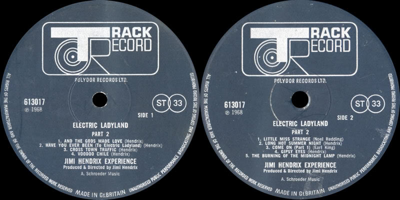 Electric Ladyland (1968) ElectricLadylandPart2Label