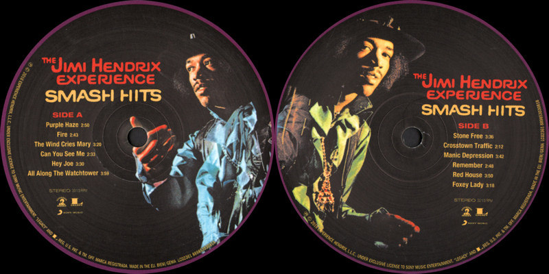 Discographie : Rééditions & Compilations - Page 12 Experience Hendrix  88985303081S1 - Smash Hits 2016 - Label_zpsfp0cjbmn