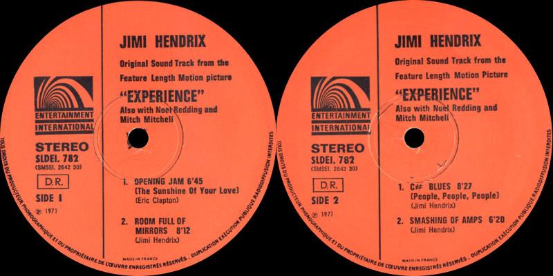 Londres (Royal Albert Hall) : 24 février 1969 Experiencevol1Label