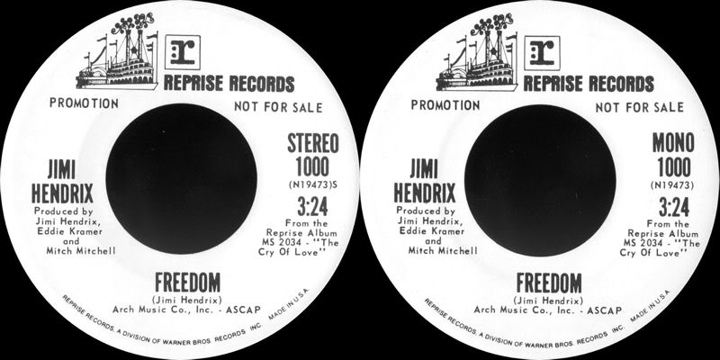 Discographie : 45 Tours : SP,  EP,  Maxi 45 tours FreedomReprise1000stro-mono