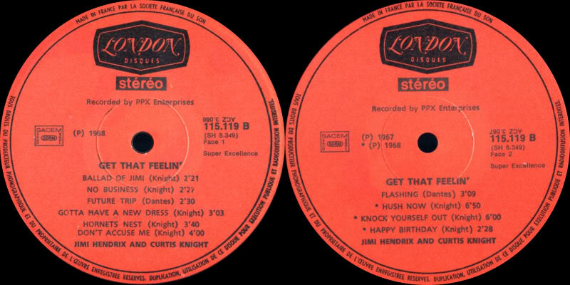 Discographie : Enregistrements pré-Experience & Ed Chalpin  GetThatFeelingLabel