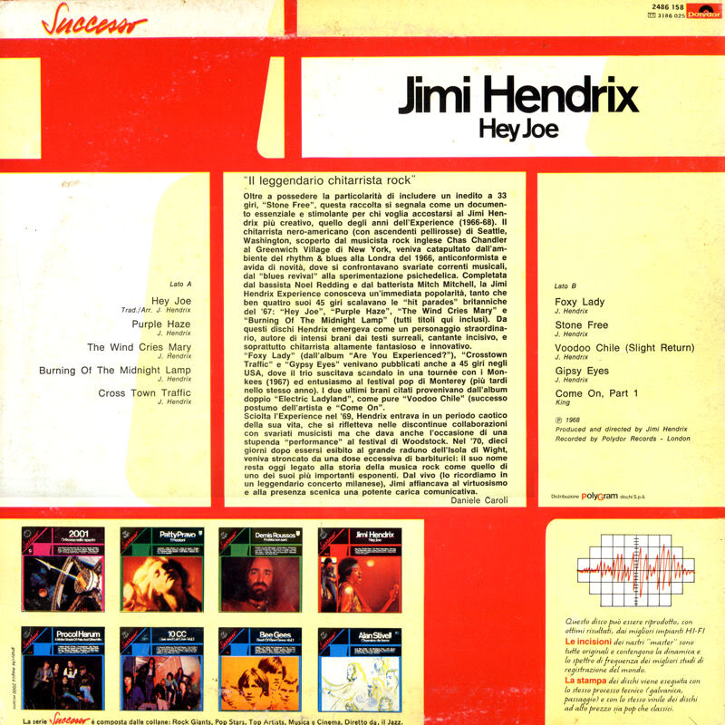 Discographie : Rééditions & Compilations HeyJoeItalyback