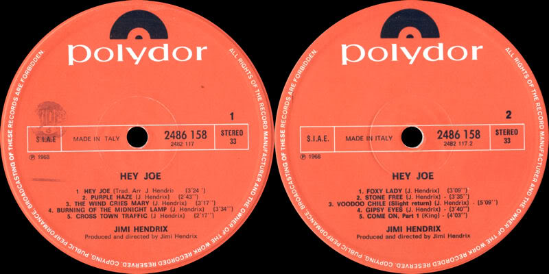 Discographie : Rééditions & Compilations - Page 2 HeyJoeItalylabel