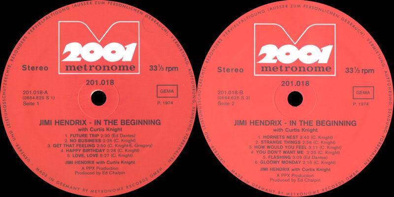 Discographie : Enregistrements pré-Experience & Ed Chalpin  - Page 2 InTheBeginningMetronomeLabel