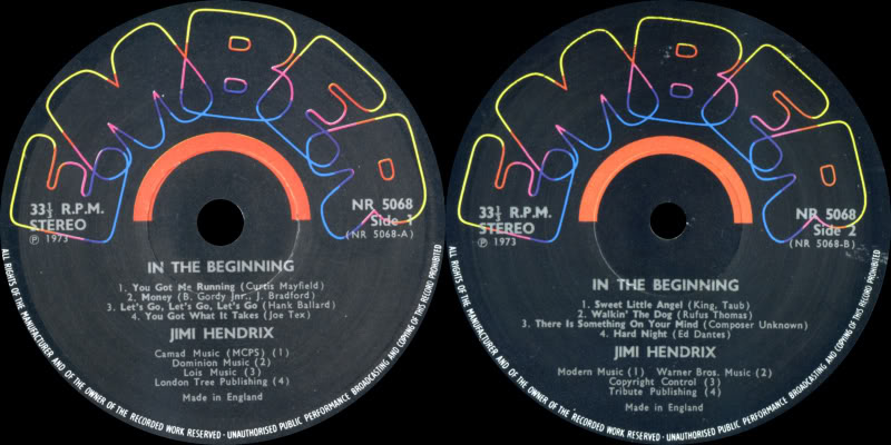 Discographie : Enregistrements pré-Experience & Ed Chalpin  - Page 2 InTheBeginningvol-2Label