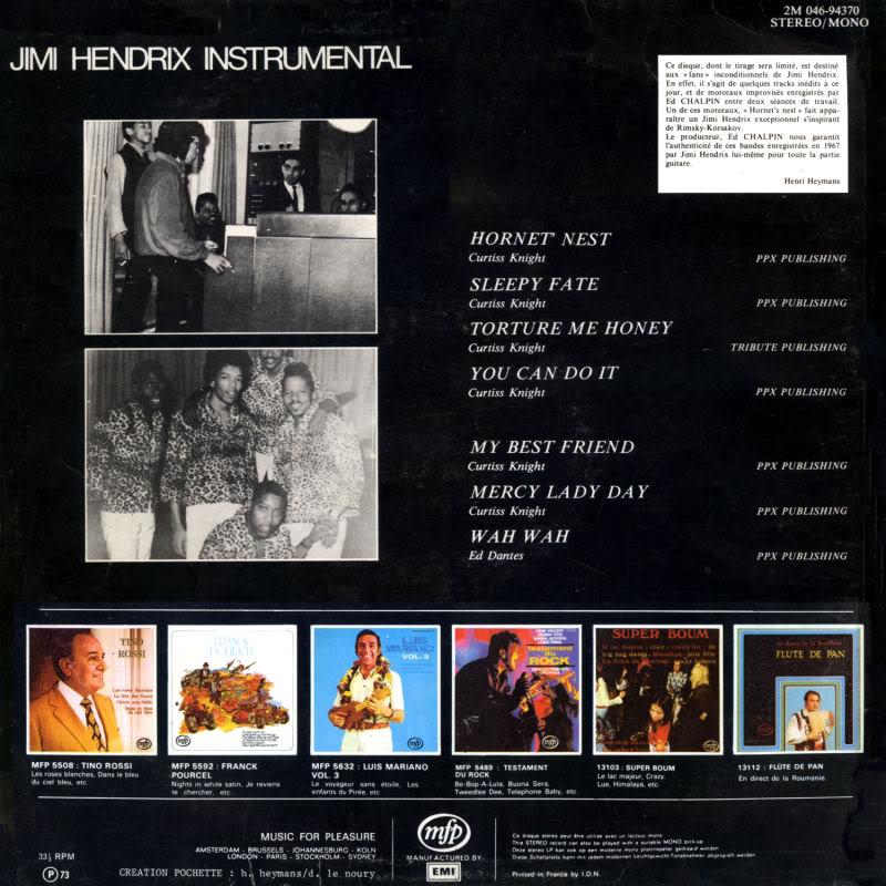 Discographie : Enregistrements pré-Experience & Ed Chalpin  InstrumentalBack