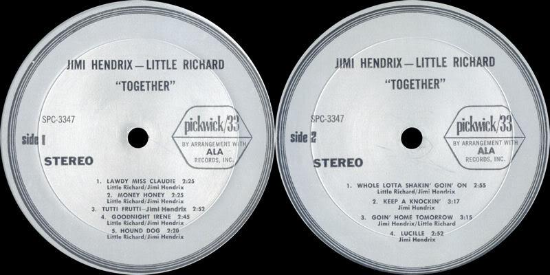 Discographie : Enregistrements pré-Experience & Ed Chalpin  - Page 3 JimiHendrixLittleRichard-TogetherLabel
