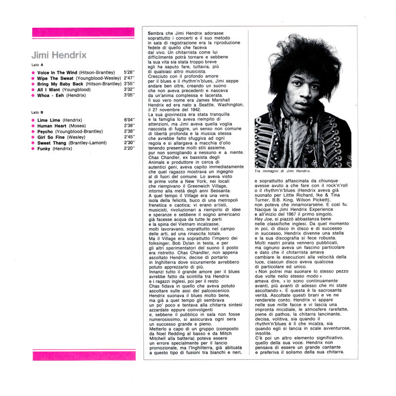Discographie : Enregistrements pré-Experience & Ed Chalpin  - Page 2 LaGrandeStoriaDelRock31Insidegauche