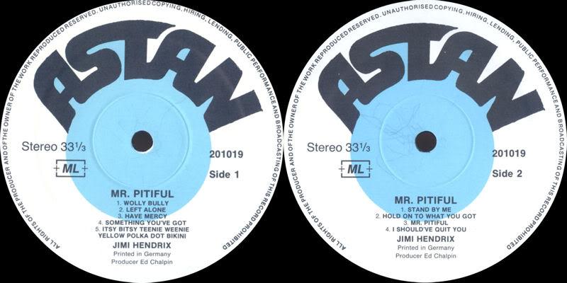 Discographie : Enregistrements pré-Experience & Ed Chalpin  - Page 2 MrPitifulLabel