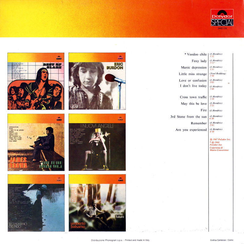 Discographie : Rééditions & Compilations - Page 12 Polydor Special 2482.116 - Voodoo Chile Back_zps7mfy2ucp