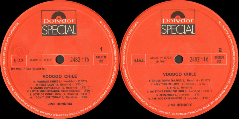 Discographie : Rééditions & Compilations - Page 12 Polydor Special 2482.116 - Voodoo Chile Label_zps49tsyhll
