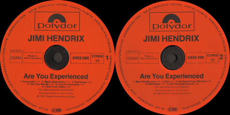 Discographie : Rééditions & Compilations - Page 9 Polydor2459390AreYouExperiencedLabel_zps907e36f3