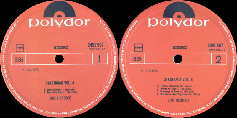 Discographie : Rééditions & Compilations - Page 6 Polydor2491507-StartrackVol8Label