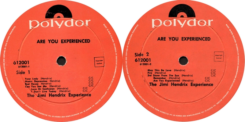 Discographie : Rééditions & Compilations - Page 9 Polydor612.001AreYouExperiencedLabelNewZealand