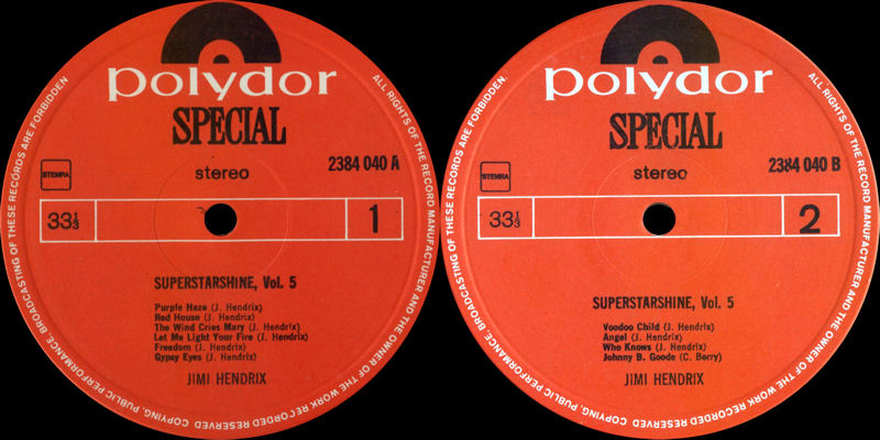 Discographie : Rééditions & Compilations - Page 6 PolydorSpecial2384040-SuperstarshineLabel