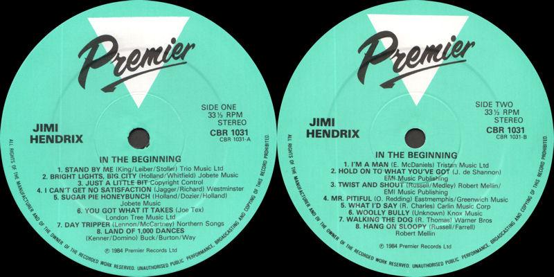 Discographie : Enregistrements pré-Experience & Ed Chalpin  - Page 2 PremierCBR1031-InTheBeginningLabel