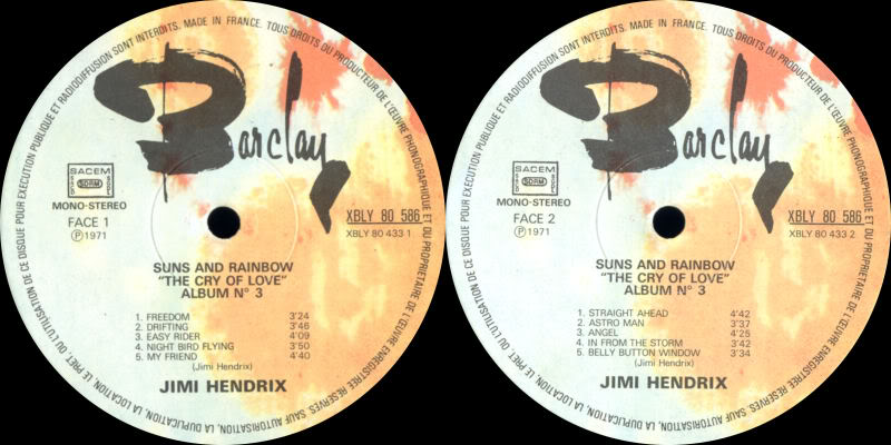 Discographie : Made in Barclay - Page 2 SunsandRainbowVolume3BarclayLabel2