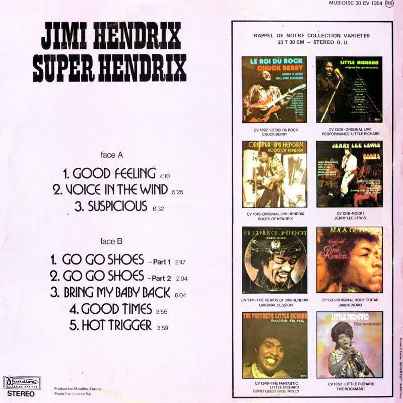 Discographie : Enregistrements pré-Experience & Ed Chalpin  SuperHendrix5