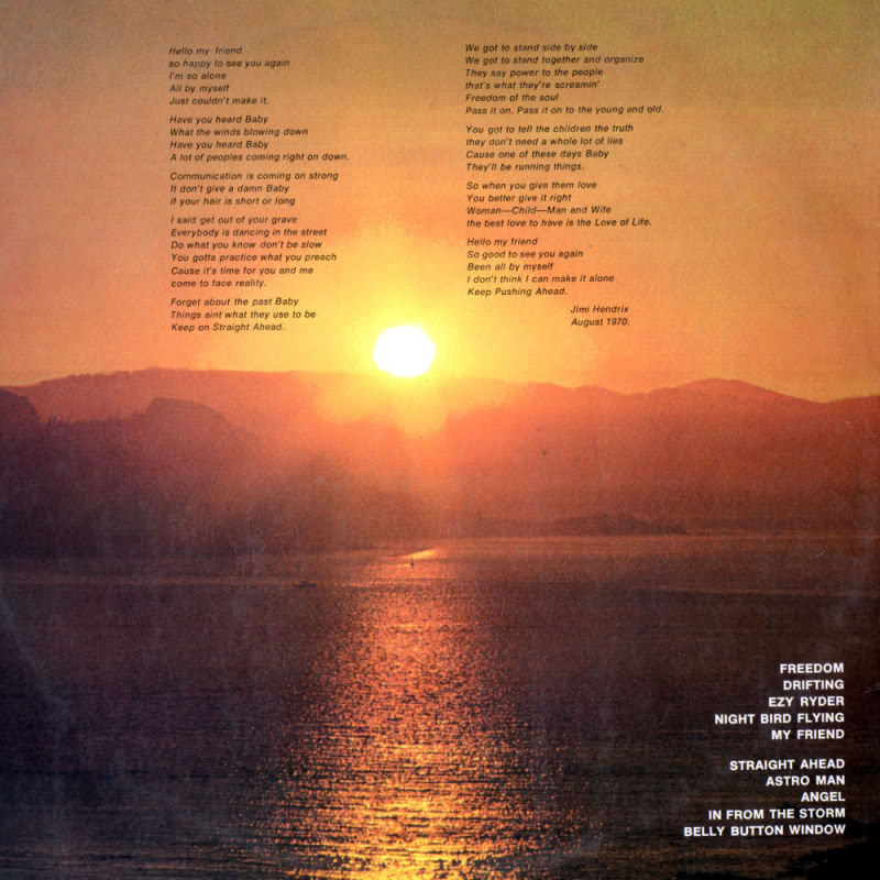 The Cry Of Love (1971) TheCryOfLoveBackPromotionalCopy