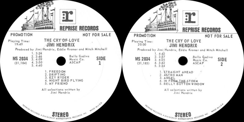 The Cry Of Love (1971) TheCryOfLoveLabelPromotionalCopy