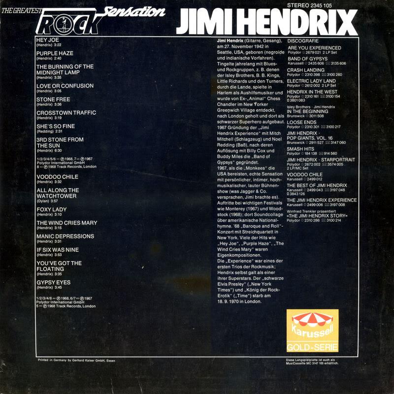 Discographie : Rééditions & Compilations - Page 4 TheGreatestRockSensationBack