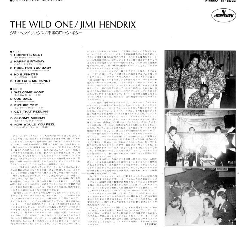 Discographie : Enregistrements pré-Experience & Ed Chalpin  TheWildOneJapanInsertB