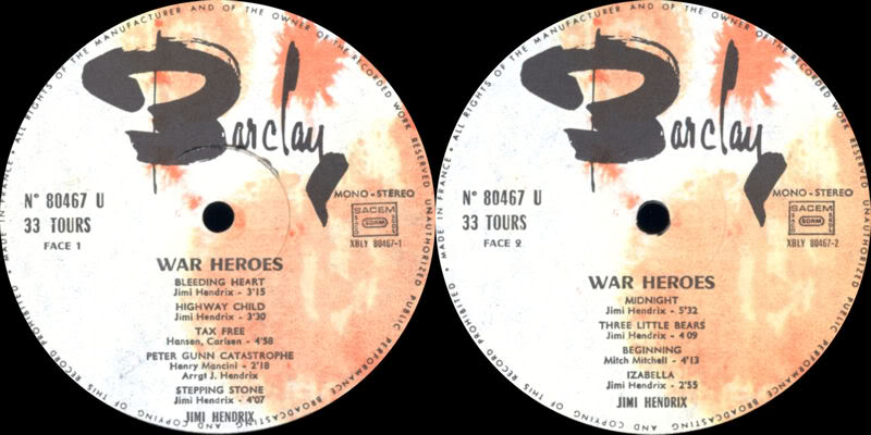 Discographie : Made in Barclay - Page 2 WarHeroesBarclay80467Label