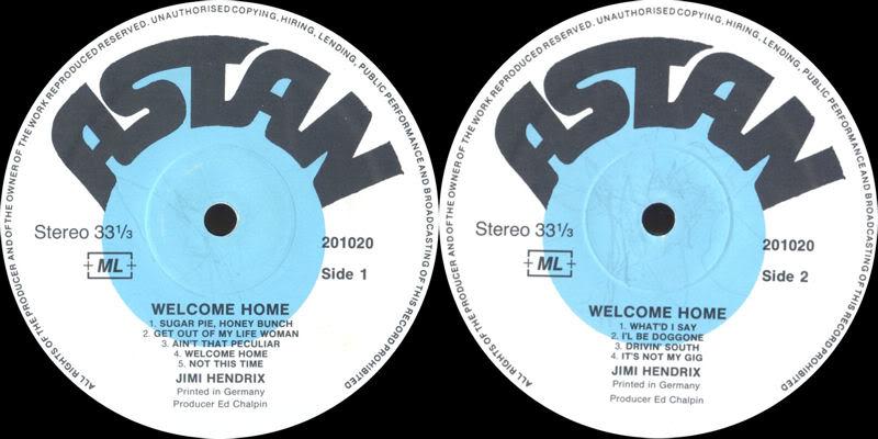 Discographie : Enregistrements pré-Experience & Ed Chalpin  - Page 2 WelcomeHomeLabel