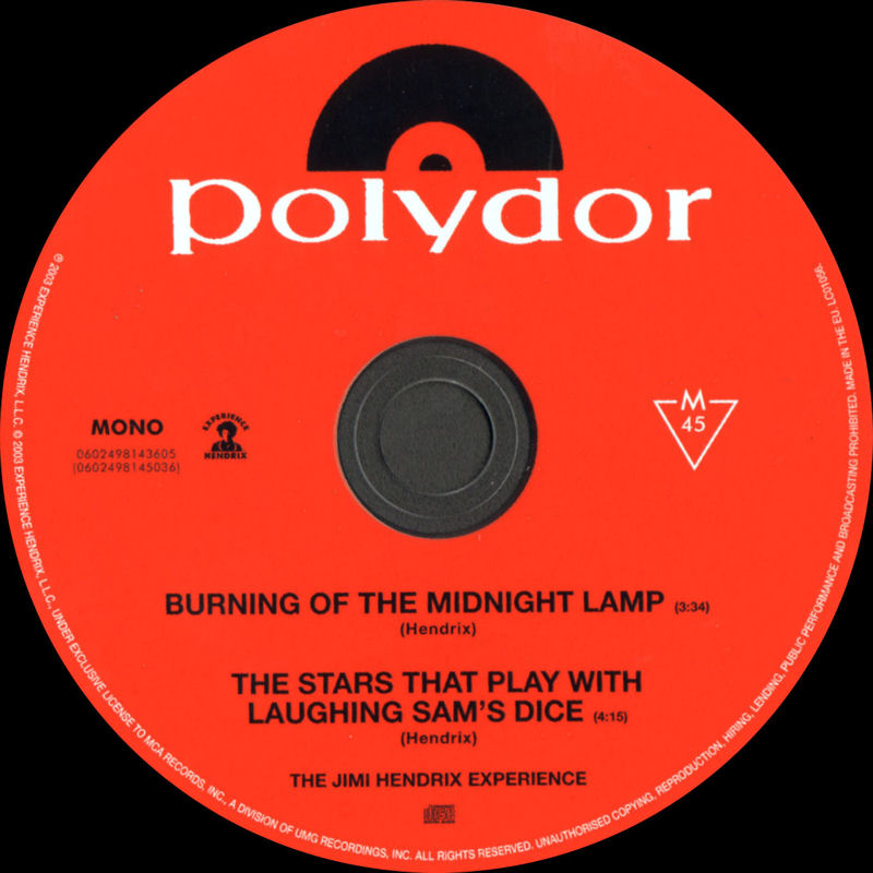 Discographie : Compact Disc   MCARecords0602498143605-BurningOfTheMidnightLamp-TheStarsThatPlayWithLaughingSamsDiceLabel_zps23180eb3