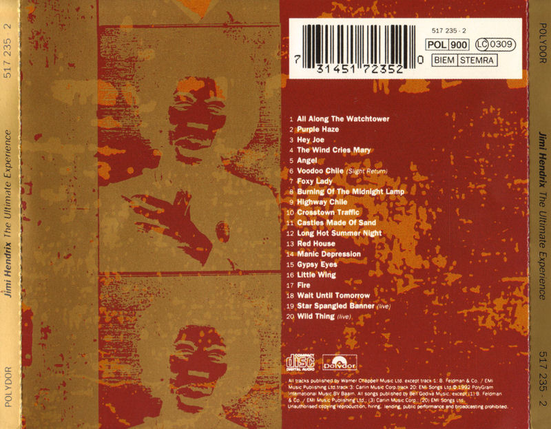 Discographie : Compact Disc   - Page 5 Polydor517235-2TheUltimateExperienceBack_zps725c97d5