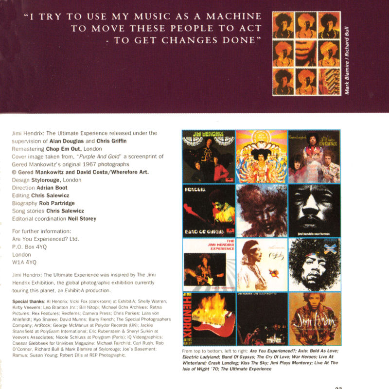 Discographie : Compact Disc   - Page 5 Polydor517235-2TheUltimateExperienceLivret22_zps62dabde1