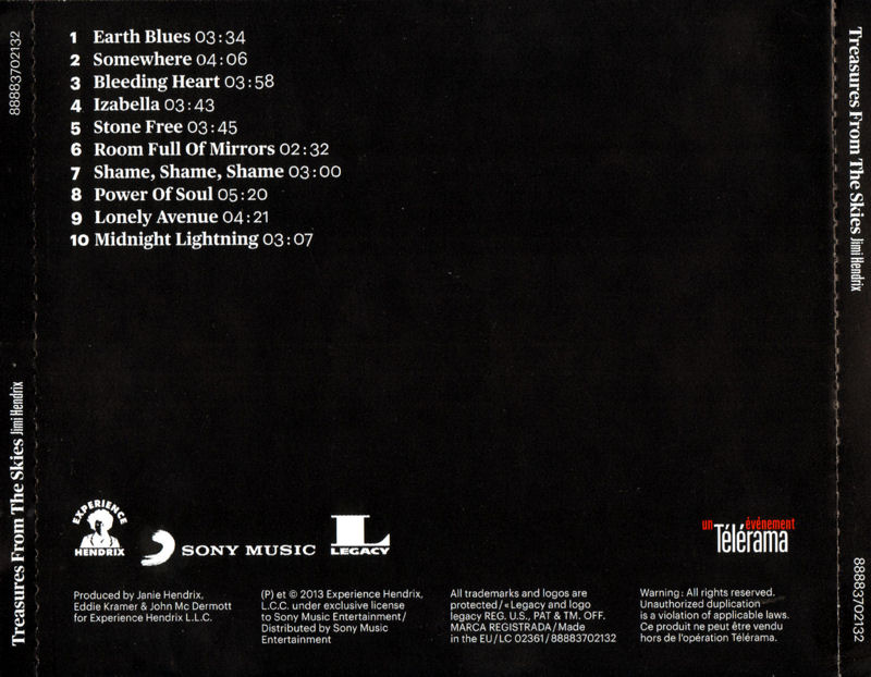 Discographie : Compact Disc   - Page 5 Sony88883702132-TreasuresFromTheSkiesBack_zps4fc4c707