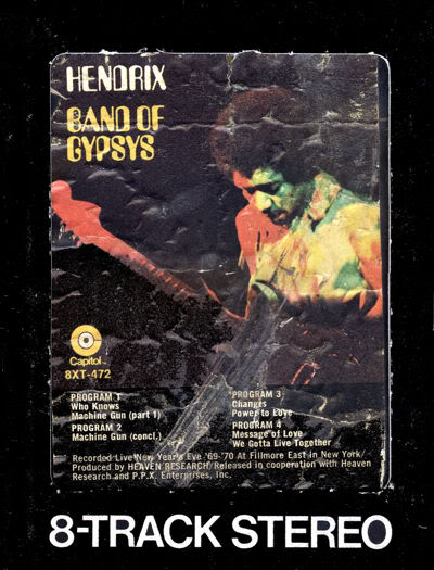 Band Of Gypsys (1970) BandOfGypsys8trackFront
