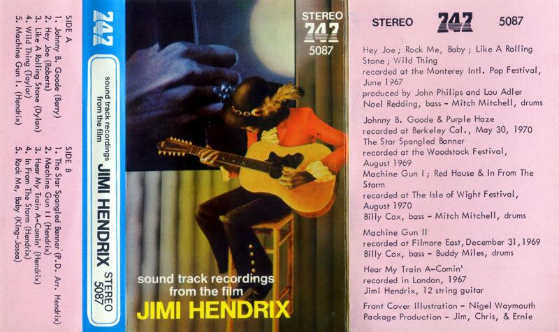 Discographie : Rééditions & Compilations SoundtrackRecordingFromTheFilmjaquettetape