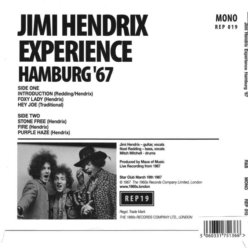 Discographie : 45 Tours : SP,  EP,  Maxi 45 tours - Page 12 1960sRecordsREP19-Hamburg67Back