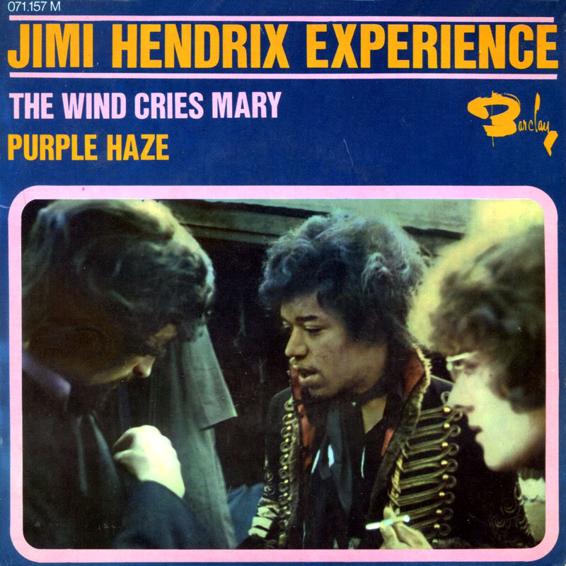 Discographie : 45 Tours : SP,  EP,  Maxi 45 tours 1967%20EP%20Barclay%20071157-TheWindCriesMary-Fire-PurpleHaze-HighwayChildFront
