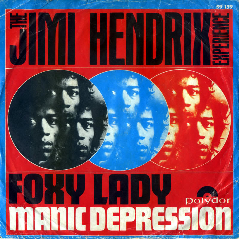 Discographie : 45 Tours : SP,  EP,  Maxi 45 tours 1967%20Polydor%2059159-FoxyLady-ManicDepressionFront