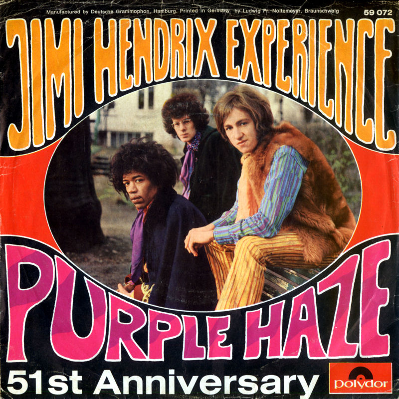 Discographie : 45 Tours : SP,  EP,  Maxi 45 tours 1967%20Polydor59072-PurpleHaze-51stAnniversaryFront