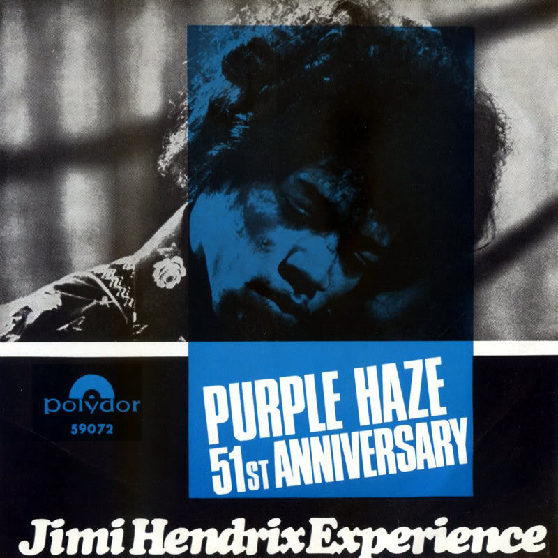 Discographie : 45 Tours : SP,  EP,  Maxi 45 tours 1967%20Polydor59072-PurpleHaze-51stAnniversaryNorwayFront