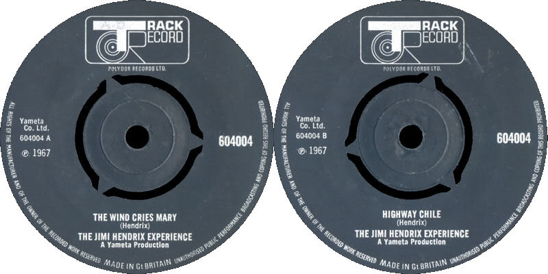 Discographie : 45 Tours : SP,  EP,  Maxi 45 tours 1967%20Track%20604004TheWindCriesMary-HighwayChile